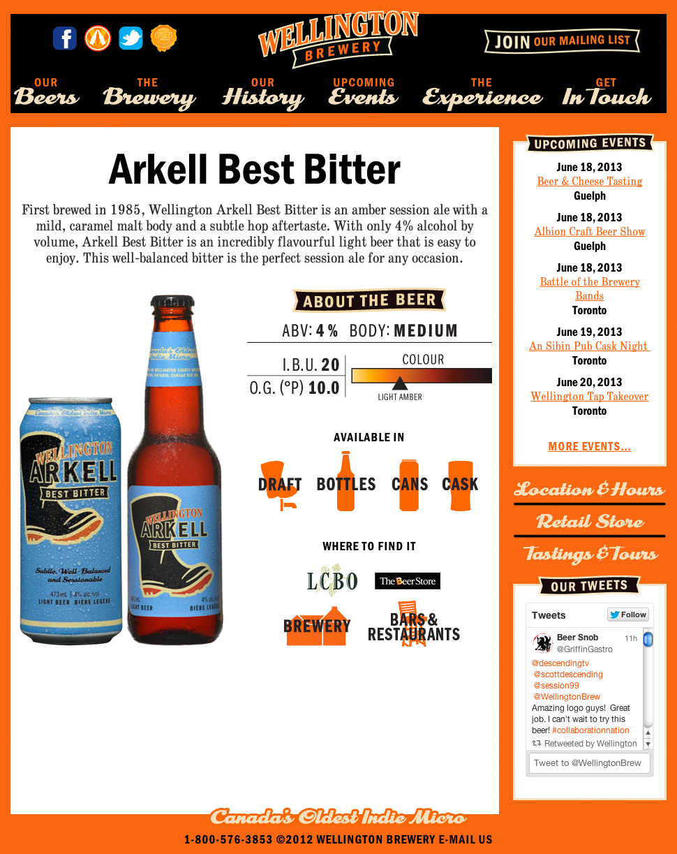 Wellington Brewery Arkell