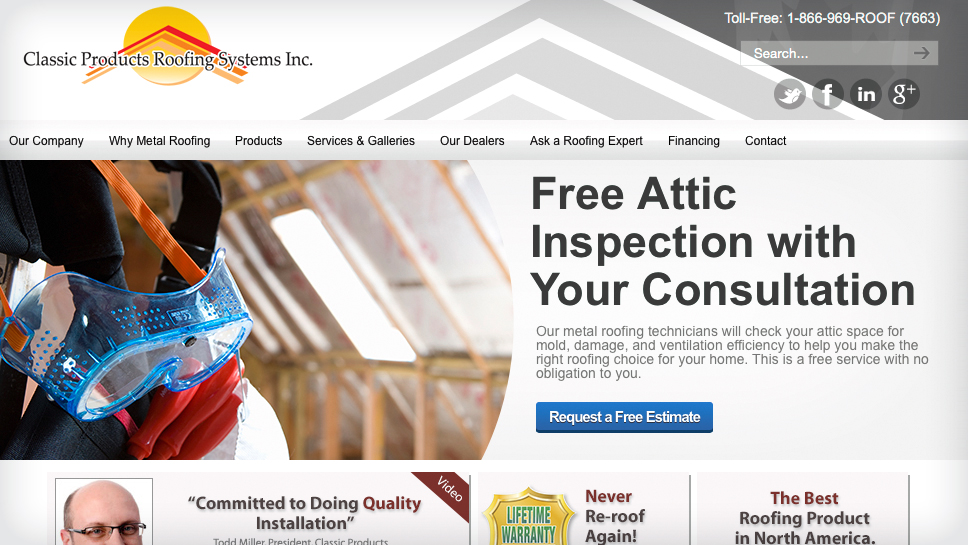 Classic Products Roofing Systems Inc.