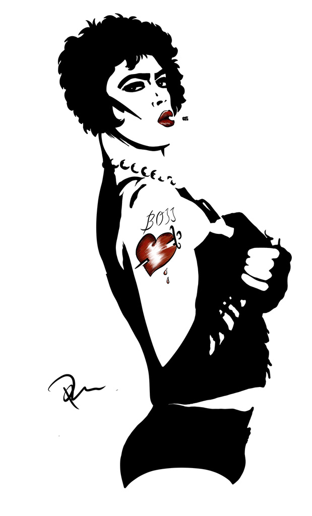 Frank N. Furter Drawing by Marhue