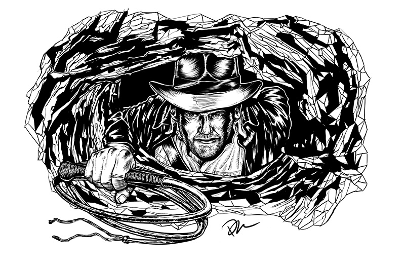 Indy Drawing by Marhue