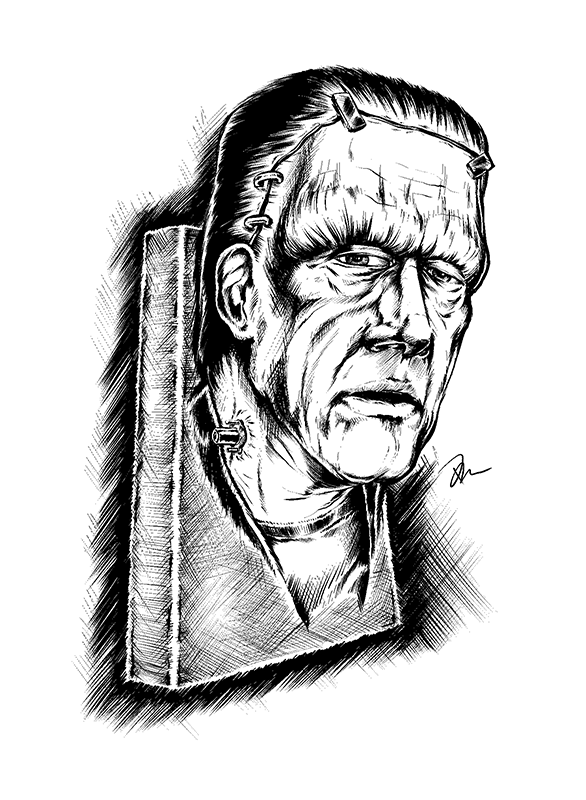 Frankenstein's Monster Drawing by Marhue