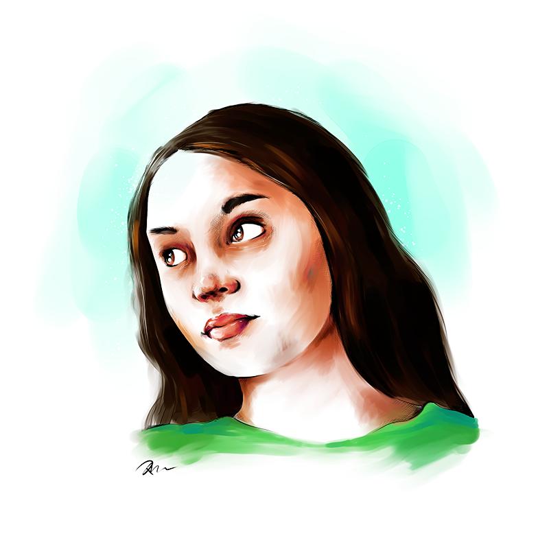 Soleil. Drawing by Marhue